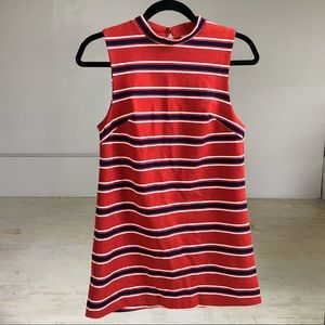 Cooperative vintage inspired striped gogo dress